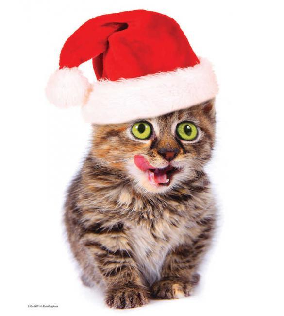 Пазлы Праздничный котенок 100