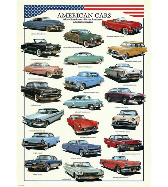 Пазлы Американские автомобили 1950х  300