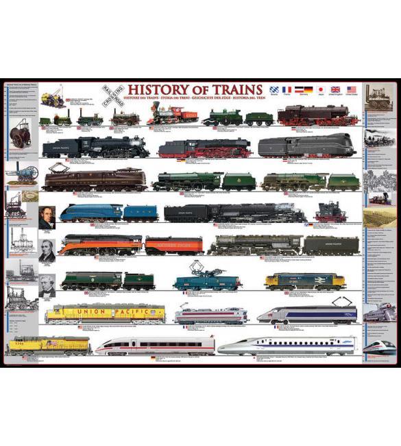 Пазлы История поездов 500