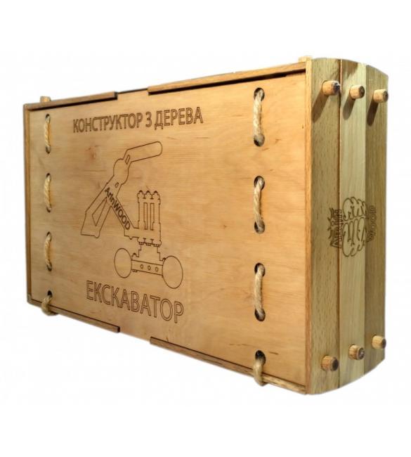 Конструктор деревянный Экскаватор