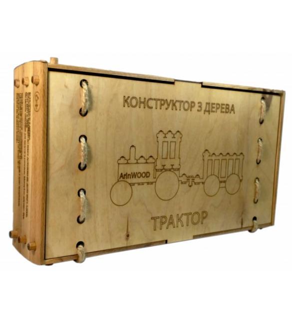 Конструктор деревянный Трактор