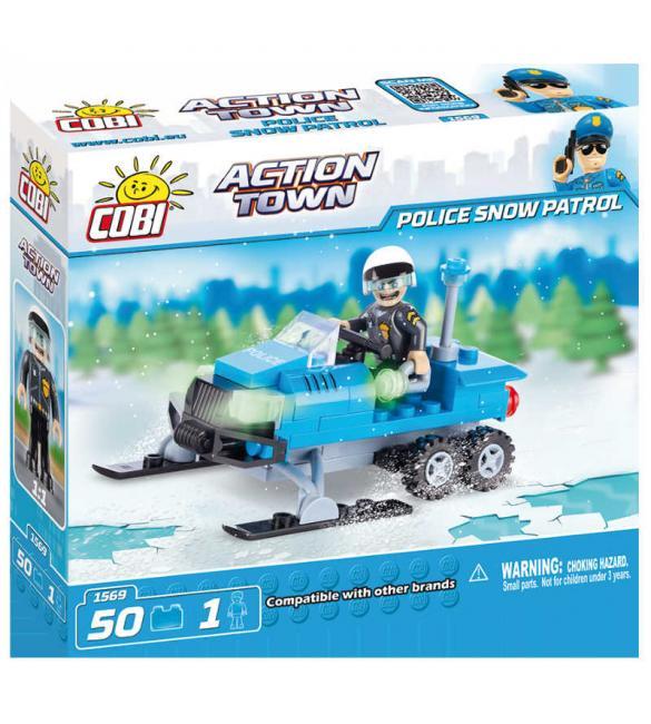 Конструктор Cobi Action Town - Полицейский снежный патруль