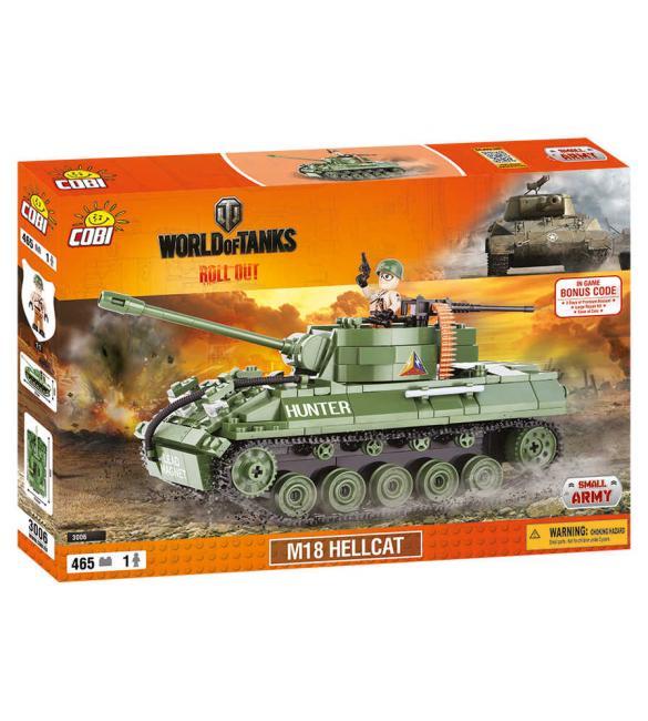Конструктор Cobi Word Of Tanks САУ М18 Хеллкет