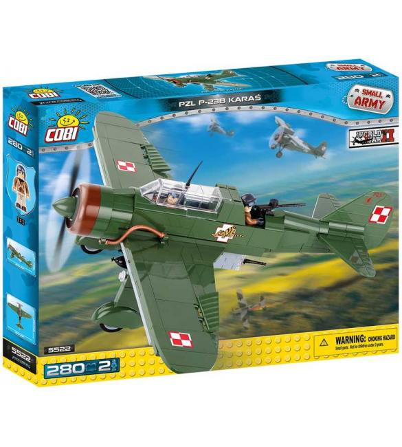Конструктор Вторая Мировая Война Самолет PZL Карась P-23B