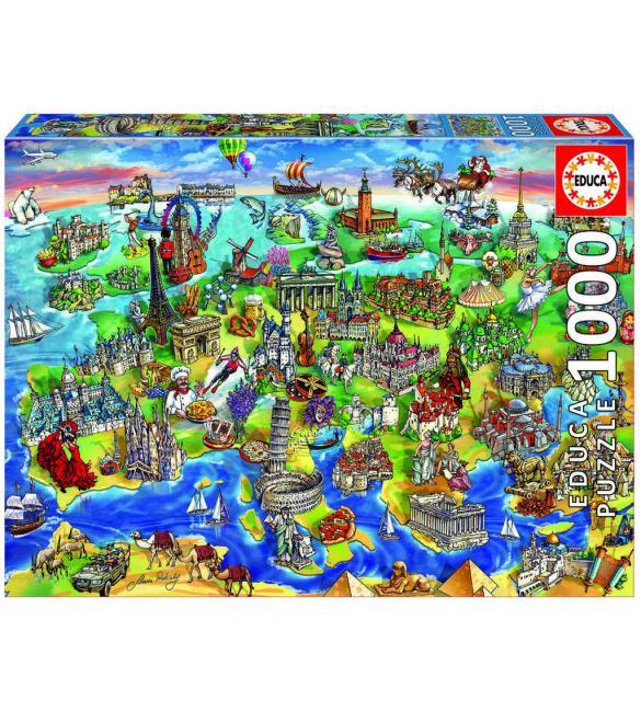 Пазлы Интересная Европа 1000