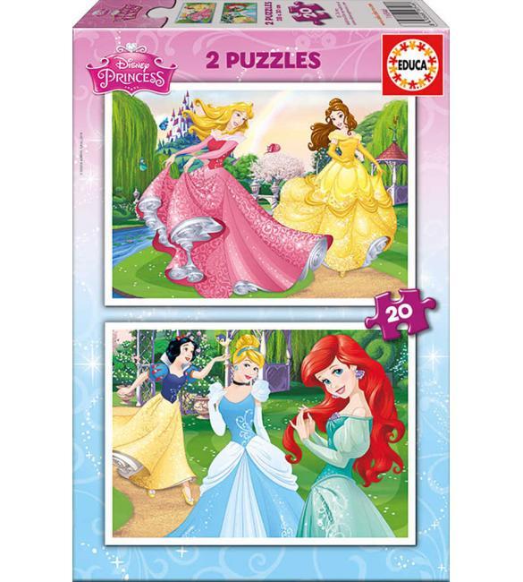 Пазлы Диснеевские принцессы 2 по 20