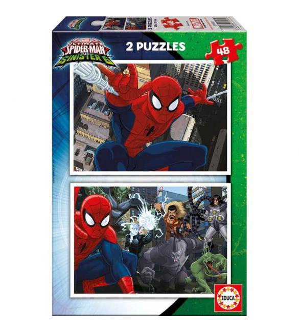 Пазлы Человек-паук 2 пазла по 48