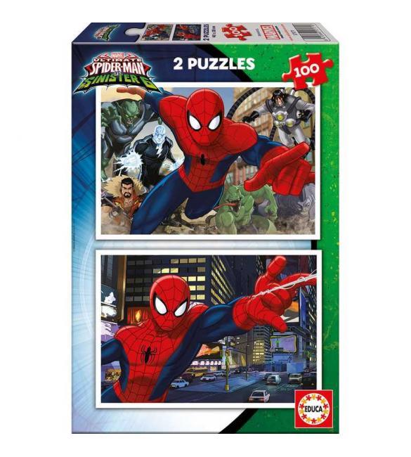 Пазлы Человек-паук 2 пазла по 100