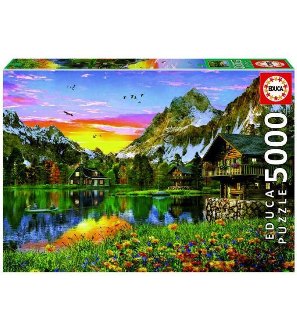 Пазлы Альпийское озеро 5000