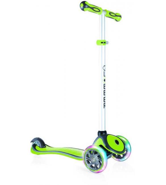 Самокат GLOBBER серии PRIMO PLUS LIGHTS, зеленый, колеса с подсветкой, до 50кг, 3+, 3 колеса