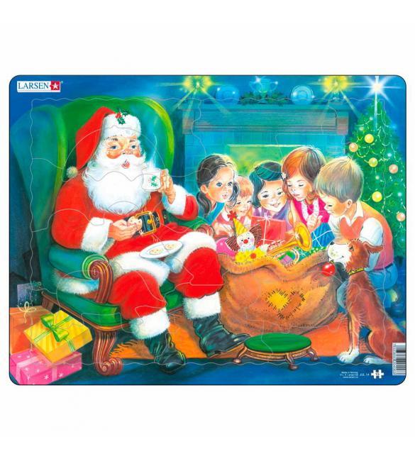 Пазлы Дед Мороз и дети
