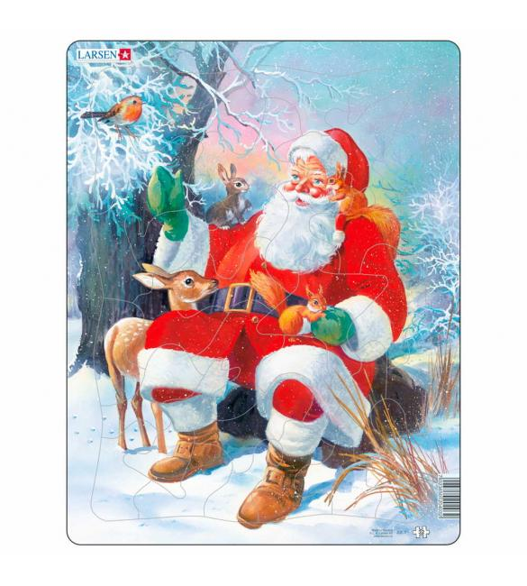Пазлы Дед Мороз в лесу