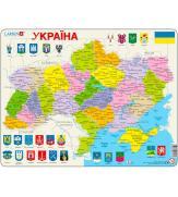 Пазлы Карта Украины - политическая