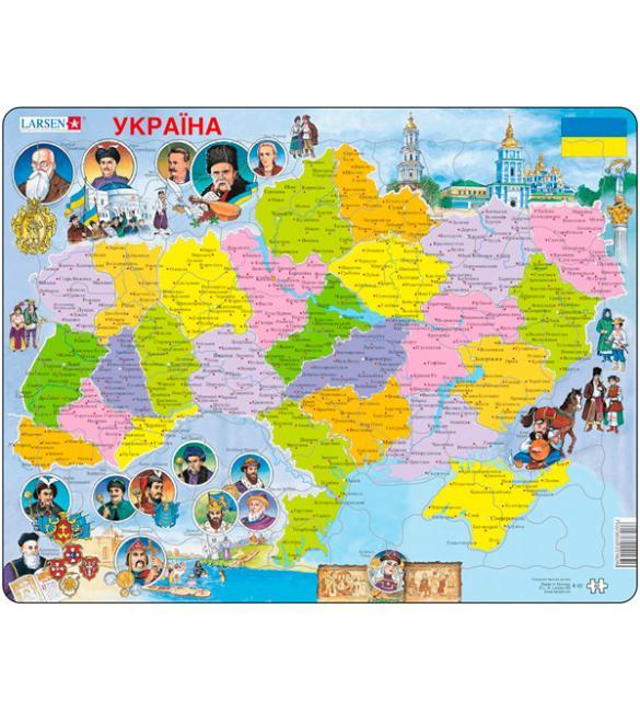 Пазлы Карта Украины - история