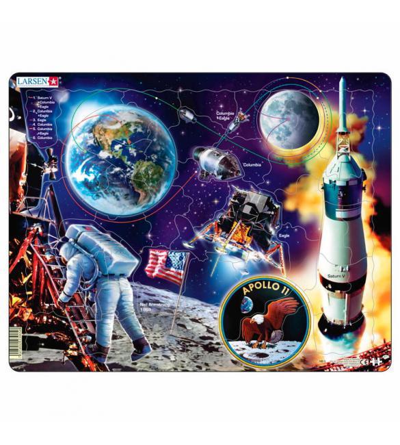 """Пазлы Путешествие на Луну """"Аполлон-11"""""""