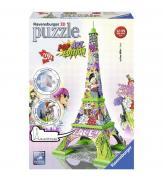 Объемный пазл  Эйфелевая башня в стиле поп-арт