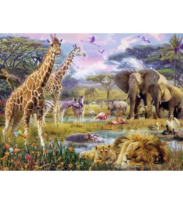 Пазлы  Разноцветная Африка 1500