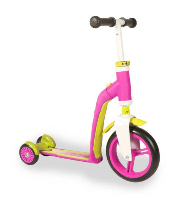 Самокат Scoot and Ride серии Highwaybaby+ розово-желтый, до 3 лет/20кг