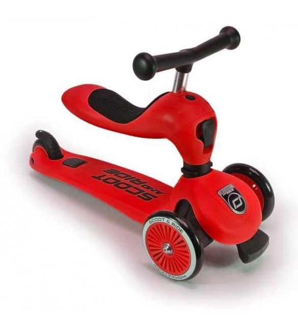 Самокат Scoot and Ride серии Highwaykick-1 красный, от 1 года/20-50 кг