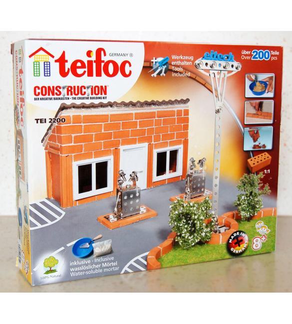 Керамический строительный набор-конструктор из кирпичиков Teifoc Заправка