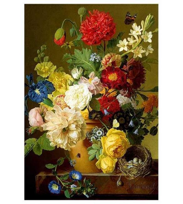 Пазлы Натюрморт с цветами 1500