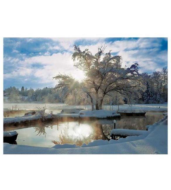 Пазлы Утро на озере 2000