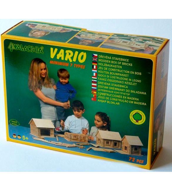 Конструктор деревянный VARIO 72шт.